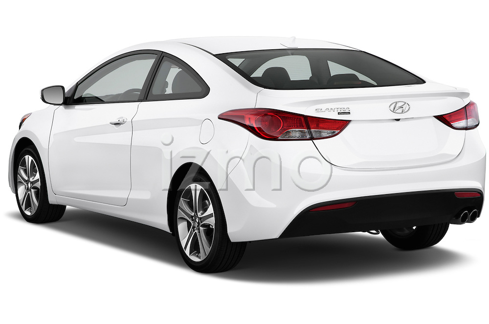 Rear three quarter view of a 2013 Hyundai Elantra Coupe