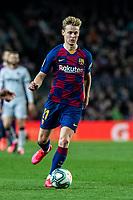 2nd February 2020; Camp Nou, Barcelona, Catalonia, Spain; La Liga Football, Barcelona versus Levante; Frenkie de Jong of FC Barcelona comes forward on the ball