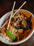 A close-up image of a non-traditional version of Pad Thai served at The Winchester in Grand Rapids. Photo by Dan Irving.