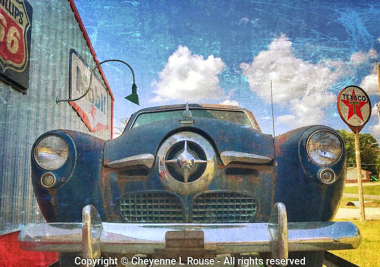 Blue Bullet Nose - Studebaker - Texaco - Phillips 66 - Mobil Gas