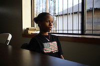 """Taylor Finley, 9, a latch key kid who is taken care of by the """"John 3:16"""" Mission while her mother works."""