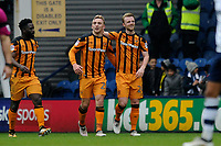 Jarrod Bowen (left) of Hull City celebrates his goal during Preston North End vs Hull City, Sky Bet EFL Championship Football at Deepdale on 3rd February 2018