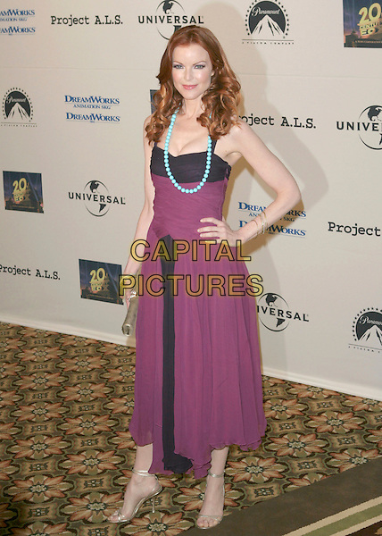 MARCIA CROSS.5th Annual Project A.L.S. Benefit Gala Honoring Ben Stiller held at The Westin Century Plaza Hotel. .Century City, California.May 6th, 2005.Photo Credit: Zach Lipp/AdMedia.full length turquoise blue beaded necklace jewellery purple dress hand on hip.www.capitalpictures.com.sales@capitalpictures.com.© Capital Pictures.