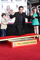 HOLLYWOOD, CA - DECEMBER 03: Quinlin Stiller, Ben Stiller, Ella Stiller attending the Ben Stiller Hand/Footprint Ceremony held at TCL Chinese Theatre on December 3, 2013 in Hollywood, California. (Photo by David Acosta/Celebrity Monitor)