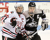 Tyler McNeely (NU - 94), Mark Fayne (Providence - 4) - The Northeastern University Huskies defeated the Providence College Friars 3-1 (EN) on Tuesday, January 19, 2010, at Matthews Arena in Boston, Massachusetts.