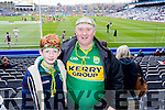 Darragh and Edward Corkery, Brandon, supporting the green and gold at the All Ireland Minor Football Final Kerry v Galway, in Croke Park, on Sunday las.t