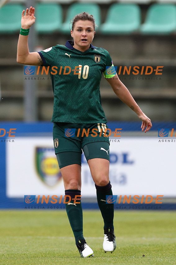 Cristiana Girelli of Italy gestures<br /> Castel di Sangro 12-11-2019 Stadio Teofolo Patini <br /> Football UEFA Women's EURO 2021 <br /> Qualifying round - Group B <br /> Italy - Malta<br /> Photo Cesare Purini / Insidefoto