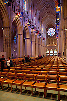 Interior of the National Cathedral in Washington DC