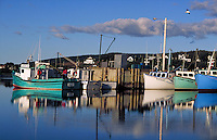 Fishing boats in harbor. Inverness, Nova Scotia, Canada