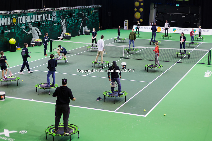 ABN AMRO World Tennis Tournament, Rotterdam, The Netherlands, 17 Februari, 2017, Marin Cilic (CRO), Jo-Wilfried Tsonga (FRA)<br /> Photo: Henk Koster