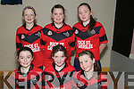 Rock St./Caherslee U/13 Indoor Soccer: Taking part in the Community Games Indoor Soccer Finals at St. Senans Sports Hall, Mountcoal, Listiowel, on Saturday last were the Rock St./Caherslee Team.  Front: Caoimhe Barry-Walsh, Amy Carmody & Rebecca Ryan. Back: Sinead Shannahan, Norma O'Connor & Caterine Collins.