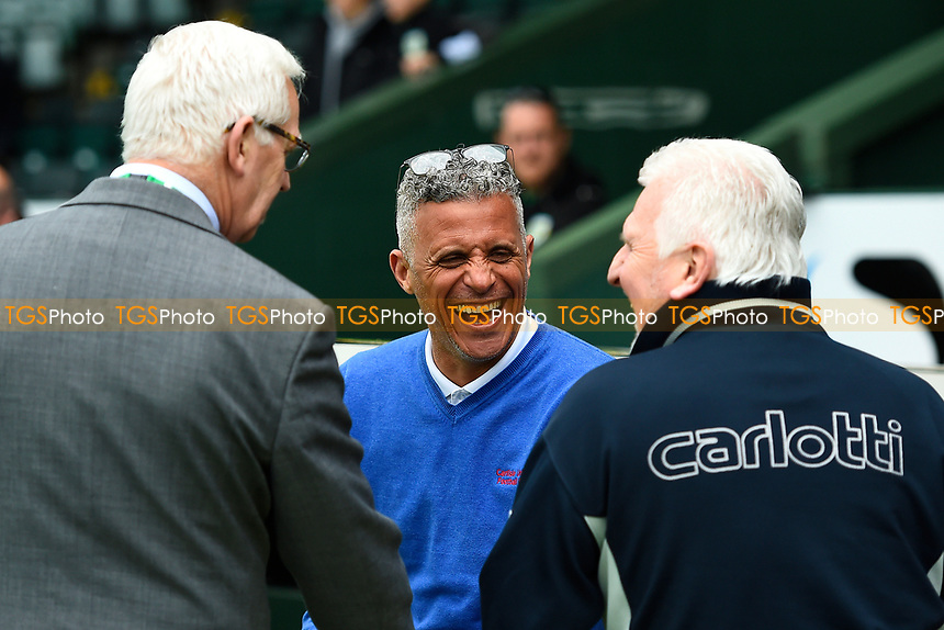 Carlisle United Manager Keith Curle middle shares a joke with members of the press during Yeovil Town vs Carlisle United, Sky Bet EFL League 2 Football at Huish Park on 1st April 2017