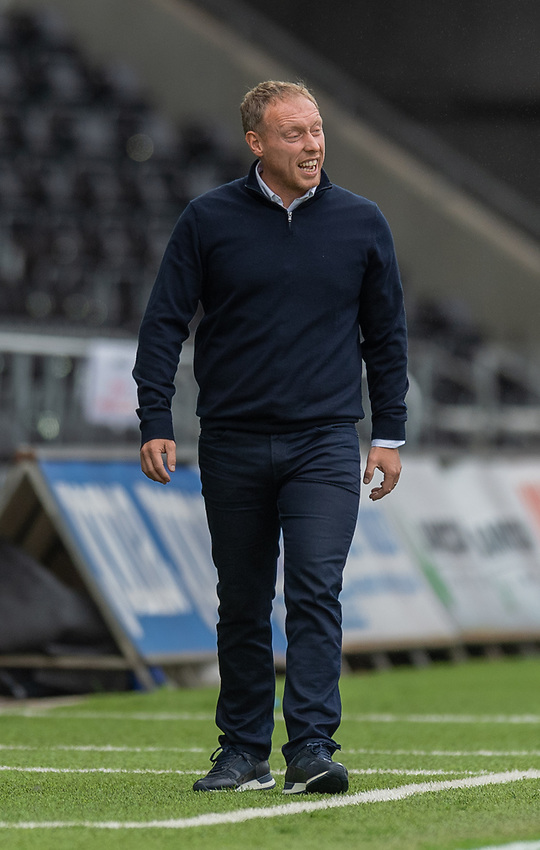 Swansea City manager Steve Cooper  <br /> <br /> Photographer David Horton/CameraSport<br /> <br /> The EFL Sky Bet Championship - Swansea City v Bristol City- Saturday 18th July 2020 - Liberty Stadium - Swansea<br /> <br /> World Copyright © 2019 CameraSport. All rights reserved. 43 Linden Ave. Countesthorpe. Leicester. England. LE8 5PG - Tel: +44 (0) 116 277 4147 - admin@camerasport.com - www.camerasport.com