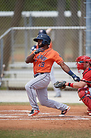 Houston Astros Osvaldo Duarte (19) during a Minor League Spring Training game against the St. Louis Cardinals on March 27, 2018 at the Roger Dean Stadium Complex in Jupiter, Florida.  (Mike Janes/Four Seam Images)