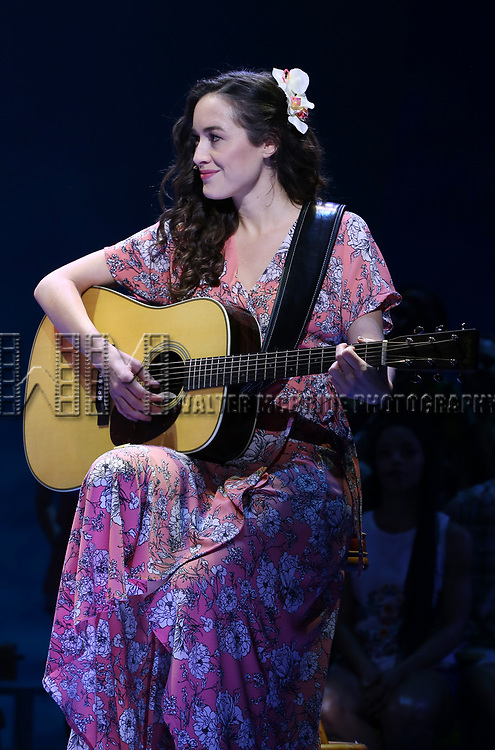 Alison Luff during the Press Sneak Peak for the Jimmy Buffett  Broadway Musical 'Escape to Margaritaville' on February 15, 2018 at the Marquis Theatre in New York City.