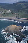 Arial view of Gunnerson Rock and Elk, California