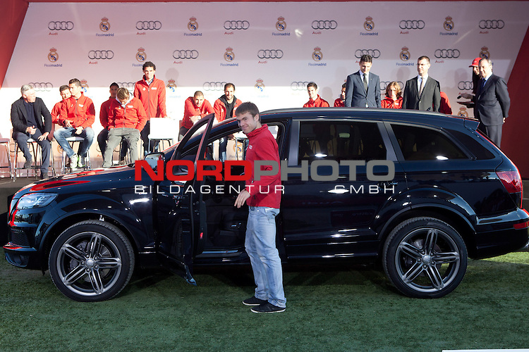Illarramendi participates and receives new Audi during the presentation of Real Madrid's new cars made by Audi at  Hipodromo de la Zarzuela in Madrid. November 28, 2013. Foto © nph / Caro Marin)