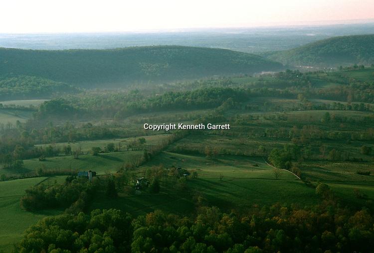 Virginia; Fauquier County; Hallowed Ground; High Point; Avenel Farm, Aerial, Thoroughfare Gap
