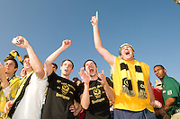 Columbus Crew fans during MLS Cup 2008. Columbus Crew defeated the New York Red Bulls, 3-1, Sunday, November 23, 2008. Photo by John Todd/isiphotos.com