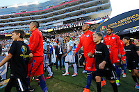 Action photo during the match Argentina vs Chile at Levis Stadium Copa America Centenario 2016. ---Foto  de accion durante el partido Argentina vs Chiler, En el Estadio de la Universidad de Phoenix, Partido Correspondiante al Grupo - D -  de la Copa America Centenario USA 2016, en la foto Arturo Vidal<br /> --- 06/06/2016/MEXSPORT/PHOTOSPORT/ Andres Pina