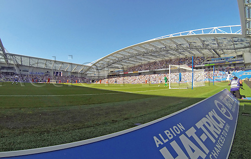 31.08.2013 Brighton, England.  Amex Stadium during the Championship game between Brighton and Hove Albion and Millwall from the Falmer Stadium.