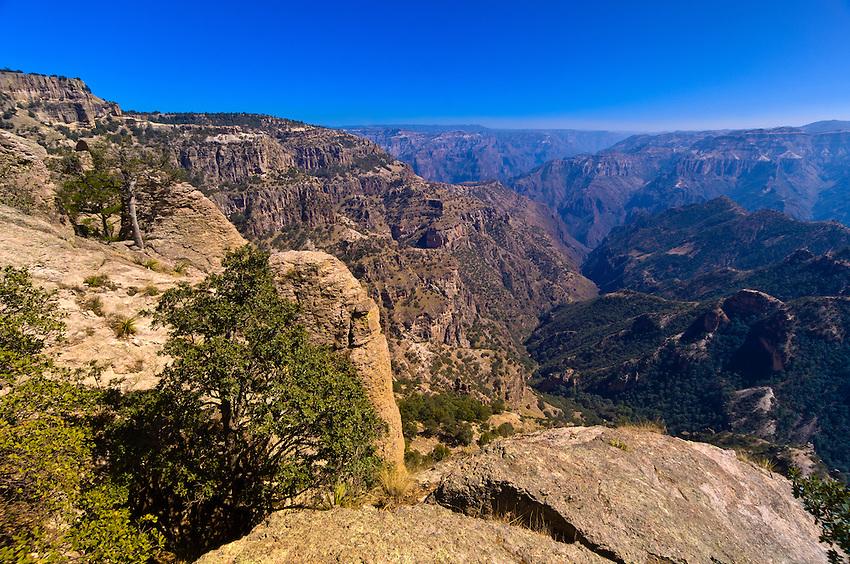 The canyon overlook, Divisadero, Copper Canyon, Mexico