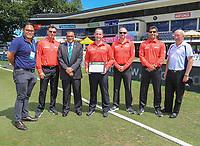 Umpire Shuan Haig makes his ODI debut.<br /> New Zealand Blackcaps v England. One Day International Cricket. Seddon Park, Hamilton, New Zealand on Sunday 25 February 2018.<br /> Copyright photo: &copy; John Cowpland/ www.photosport.nz