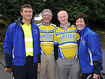 Tom Clarke, Eamonn Martin, Catherine Clarke and Paul Boyle who took part in the Ardee Cycle club 50Km cycle. Photo: Colin Bell/pressphotos.ie