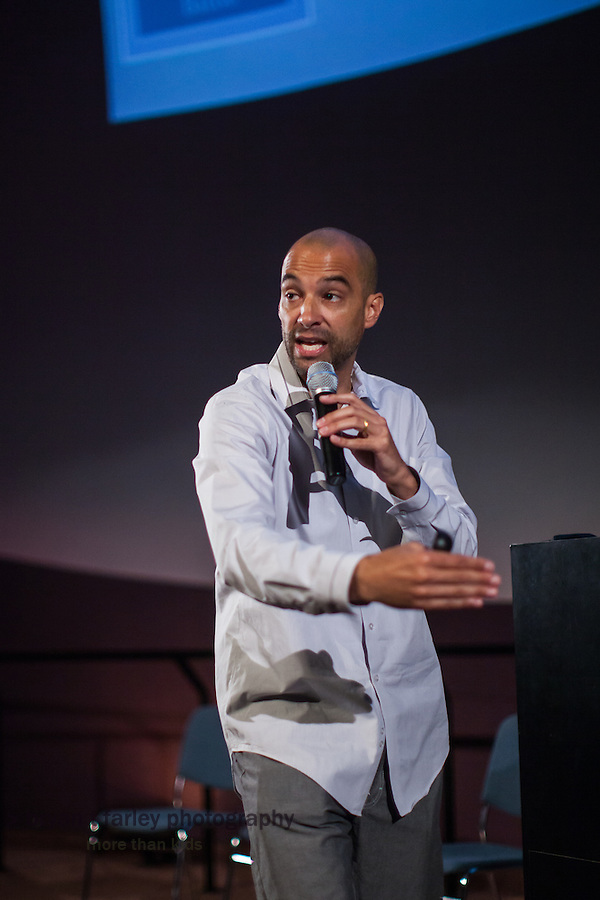 Plenary Speaker Jeffrey Duncan-Andrade, Associate Professor of Raza Studies and Education Administration and Interdisciplinary Studies, addressed the 2014 Integrated Learning Summer Institute at Chabot Space and Science Center in Oakland, California.