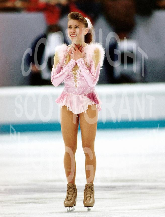Oksana Baiul Ukraine. 1994 Olympics Lillehammer. Photo Scott Grant