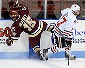Joe Whitney (BC - 15), Steve Silva (NU - 17) - The Northeastern University Huskies defeated the Boston College Eagles 3-2 on Friday, February 19, 2010, at Matthews Arena in Boston, Massachusetts.