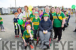 Front l-r David Fitzgerald, Colin Callaghan, Sarah Collins, Emma Long, Darragh Long and Mikey Lenihan.Back l-r Clare Callaghan, Noreen Collins, Bridget Long, Chris Quinn, Patricia Lenihan and Michaela Lenihan from Lyreacrompane at Kerry GAA family day at Fitzgerald Stadium  on Sunday