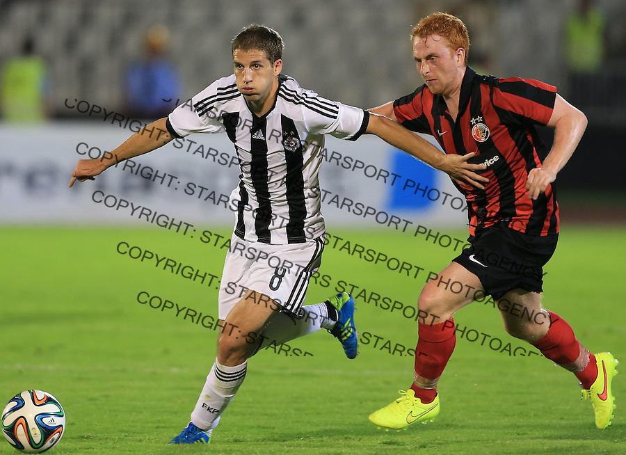 Fudbal Football Soccer<br /> UEFA Champions league-2nd qualifying round<br /> Partizan v HB Torshavn (Faroe Islands)<br /> Darko Brasanac (L)<br /> Beograd, 07.15.2014.<br /> foto: Srdjan Stevanovic/Starsportphoto &copy;