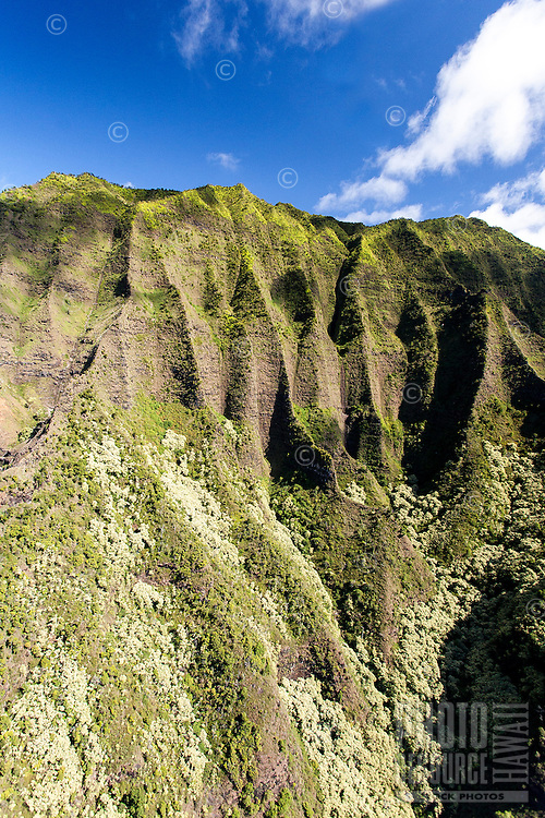A green mountain cliff along Na Pali Coast, Kaua'i