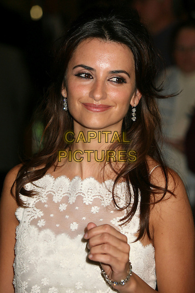 PENELOPE CRUZ.79th Annual Academy Awards Nominees Luncheon at the Beverly Hilton Hotel, Beverly Hills, California, USA..February 5th, 2007.headshot portrait white lace hand.CAP/ADM/BP.©Byron Purvis/AdMedia/Capital Pictures