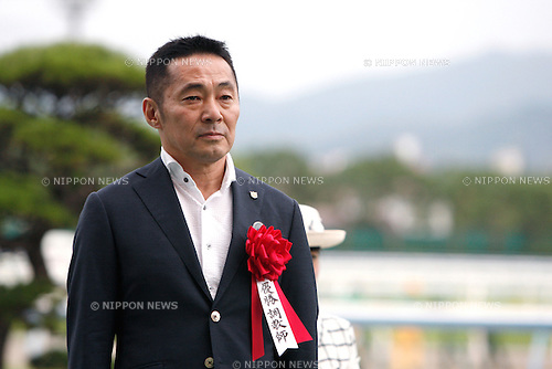 Masaru Honda,<br /> SEPTEMBER 4, 2016 - Horse Racing :<br /> Trainer Masaru Honda after Reine Minoru won the Kokura Nisai Stakes at Kokura Racecourse in Fukuoka, Japan. (Photo by Eiichi Yamane/AFLO)