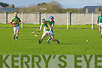 Diarmuid Dee LIOmerick & Shane Dunne Kerry, in the first roound of the Todd NOlan Hurling Cup in Kilmoyley on Saturday...