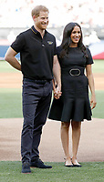 29 June 2019 - London, UK - Prince Harry Duke of Sussex and Meghan Markle Duchess of Sussex during the Boston Red Sox v New York Yankees Baseball Match at the London Stadium. Photo Credit: ALPR/AdMedia