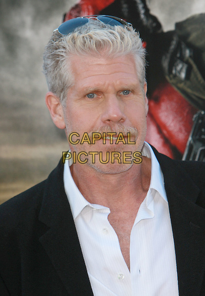 "RON PERLMAN .""Hell Boy II: The Golden Army"" World Premiere - Los Angeles Film Festival Closing Night Film held at Mann Village Theater, Westwood, California, USA,.28 June 2008..portrait headshot moustache sunglasses on head .CAP/ADM/`CH.©Charles Harris/Admedia/Capital PIctures"