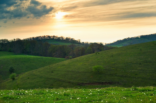 Rolling pastures, Ashe County