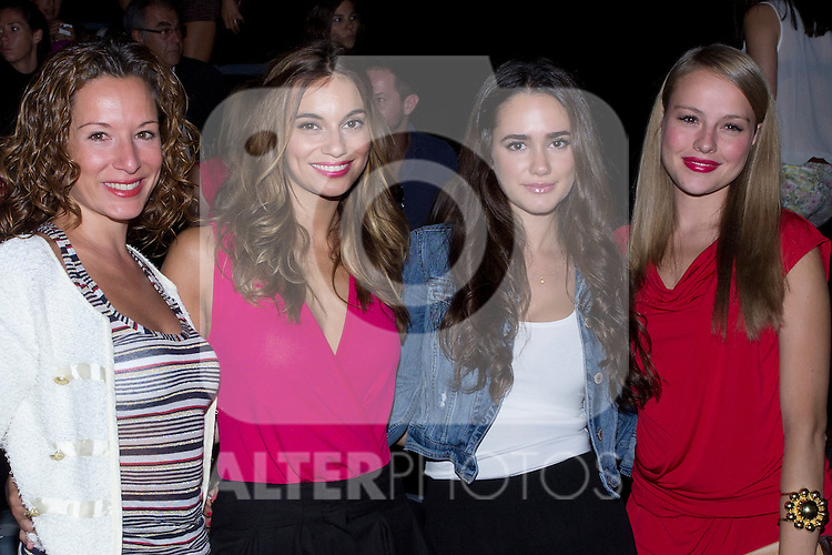 03.09.2012. Celebrities attending the Dolores Cortes and Guillermina Baeza fashion show during the Mercedes-Benz Fashion Week Madrid Spring/Summer 2013 at Ifema. In the image (L-R) ?, Norma Ruiz, Alicia Sanz and Esmeralda Moya (Alterphotos/Marta Gonzalez)