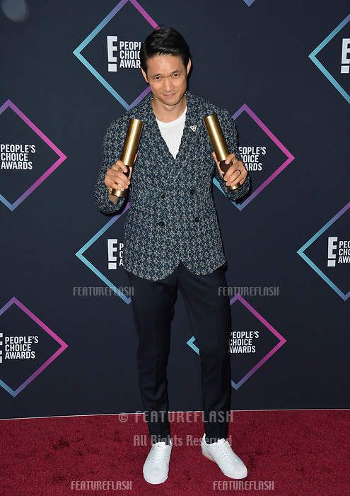 LOS ANGELES, CA. November 11, 2018: Harry Shum Jr. at the E! People's Choice Awards 2018 at Barker Hangar, Santa Monica Airport.<br /> Picture: Paul Smith/Featureflash