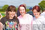 Linda McLoughlin, Gemma Jarus and Jennifer Doyle Killarney having fun at the 150th Castleisland races on Saturday