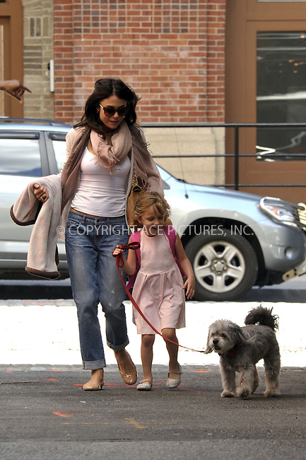 WWW.ACEPIXS.COM<br /> <br /> April 29 2015, New York City<br /> <br /> Bethenny Frankel and her daughter Bryn Hoppy took their dog for a walk in Tribeca on April 29 2015 in New York City<br /> <br /> Please byline: Curtis Means/ACE Pictures<br /> <br /> ACE Pictures, Inc.<br /> www.acepixs.com, Email: info@acepixs.com<br /> Tel: 646 769 0430