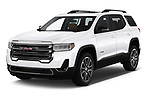 2020 GMC Acadia AT4 5 Door SUV angular front stock photos of front three quarter view
