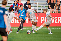 Kansas City, MO - Thursday August 10, 2017: Christina Gibbons, Taylor Smith, Mccall Zerboni during a regular season National Women's Soccer League (NWSL) match between FC Kansas City and the North Carolina Courage at Children's Mercy Victory Field.