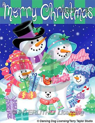 CHRISTMAS SANTA, SNOWMAN, paintings(USTT18,#X#) Weihnachtsmänner, Schneemänner, Weihnachen, Papá Noel, muñecos de nieve, Navidad, illustrations, pinturas