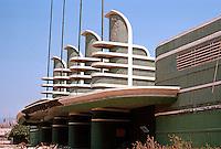 Los Angeles: Pan-Pacific Auditorium, 7600 Beverly, 1935. Wurdeman & Becket.  Photo '82.