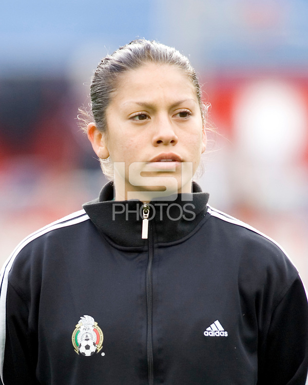 Mexico's Leticia Villapando during the team presentation. USA women's national team defeated Mexico 5-0 at Gillette Stadium in Foxborough MA on April 14, 2007