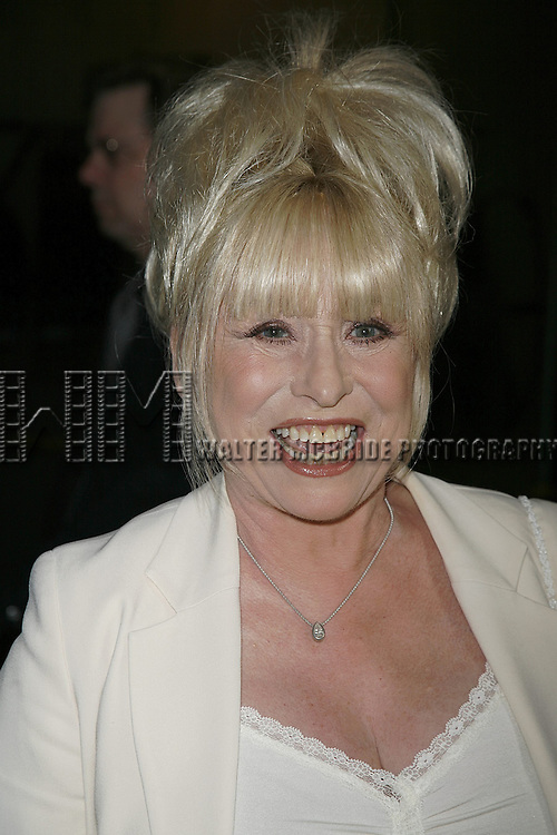 Barbara Windsor attending the Opening Night performance of the Roundabout Theatre Company's Broadway production of THE THREEPENNY OPERA at Studio 54 in New York City..April 20, 2006 .© Walter McBride/WM Photography